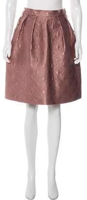 Temperley London Quilted Knee-Length Skirt