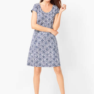 Talbots French Terry Dress - Geo Print
