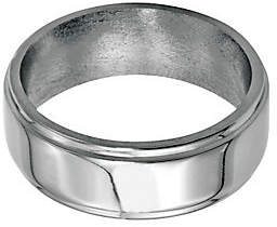Steel by Design Stainless Steel 8mm Ridged Edge Polished Ring