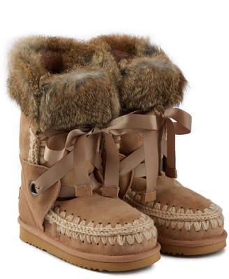 Mou Eskimo Sheepskin Boots with Fur Cuffs