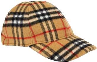 Burberry Vintage Check Wool Baseball Cap