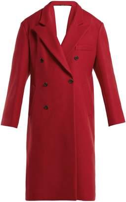 Maison Margiela Virgin wool open-back coat