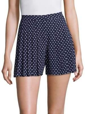 MICHAEL Michael Kors Dot-Print Pleated Shorts