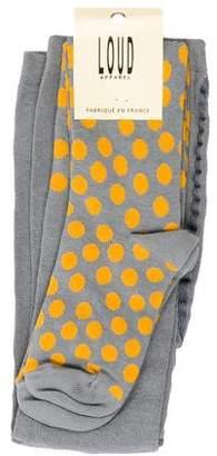Loud Apparel Girls' Knit Polka Dot Tights w/ Tags
