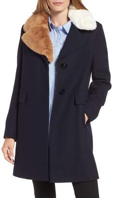 Sam Edelman Walker Faux Fur Collar Coat