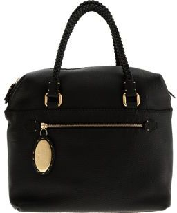 Fendi Selleria Braid Handle Duffle- Black