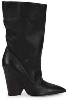 Paul Andrew Judd Pebbled Leather Slouchy Boots