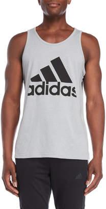 adidas Grey Logo Tank Top