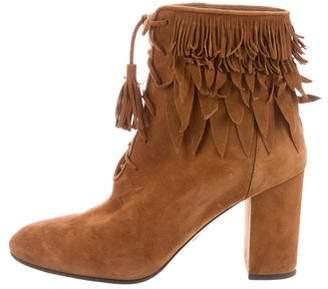 Aquazzura 2016 Woodstock Suede Ankle Boots