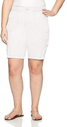 Lee Women's Plus-Size Relaxed Fit Diani Knit Waist Bermuda Short