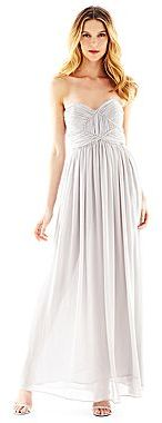 Marchesa Pearl by Georgina of Strapless Rhinestone-Trim Dress