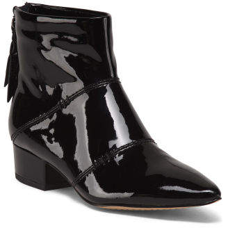 Patent Leather Ankle Booties