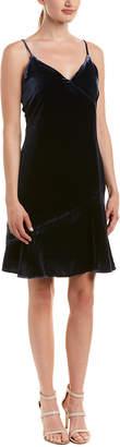 Ecru Silk-Blend Shift Dress