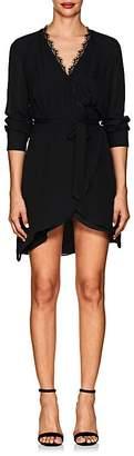 L'Agence Women's Trino Lace-Trimmed Silk Wrap Dress