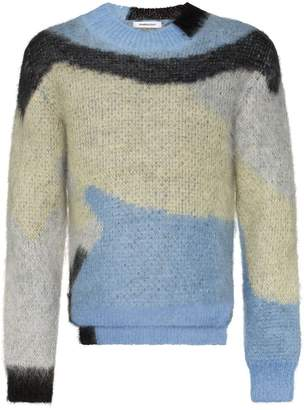 Ambush mohair crew neck sweater blue