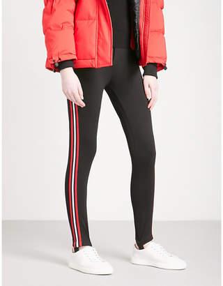 Mo&Co. Stirrup-detail high-rise jersey leggings