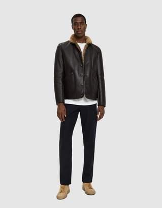 YMC Brainticket Leather Jacket