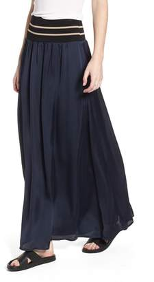 Scotch & Soda Stripe Waist Maxi Skirt