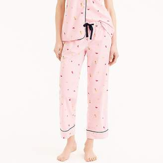 J.Crew Tipped pajama pant in fruit salad