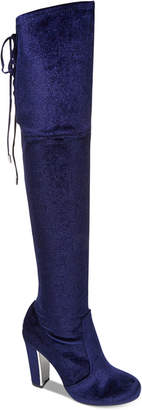 Material Girl Priyanka Over-the-Knee Stretch Boots, Created for Macy's Women's Shoes