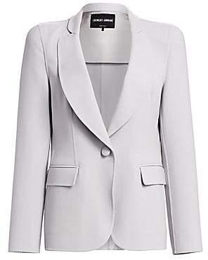 Giorgio Armani Women's Bonded Jersey One-Button Blazer