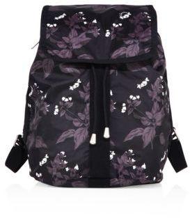 LeSportsac Shopper Botanical Nylon Backpack $140 thestylecure.com