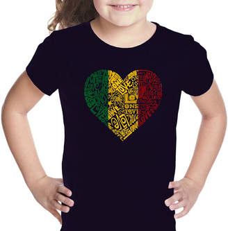 LOS ANGELES POP ART Los Angeles Pop Art One Love Heart Graphic T-Shirt Girls