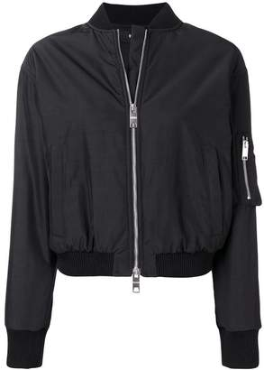Versus embroidered lion bomber jacket