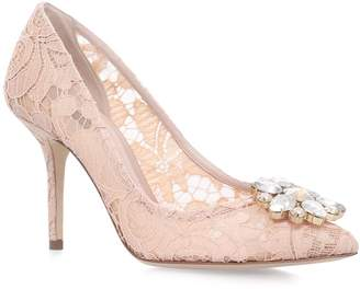 Dolce & Gabbana Lace Rosa Embellished Pumps 90