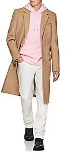 Helmut Lang Men's Harness Wool-Blend Three-Button Topcoat - Beige, Tan
