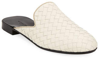 Bottega Veneta Woven Napa Leather Flat