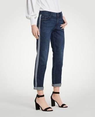 Ann Taylor Petite Side Striped Girlfriend Jeans