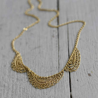 Kate Wood Jewellery Gold Scallop Necklace