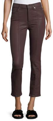 7 For All Mankind Edie Skinny-Leg Coated Pants