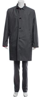 Kiton Reversible Silk Overcoat grey Reversible Silk Overcoat