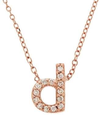 KC Designs Rose Gold Diamond Letter D Necklace
