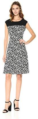 Calvin Klein Women's Sleeveless Print Dress with Zipper Yoke
