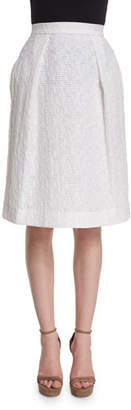 Prabal Gurung Pleated-Front Flippy Skirt