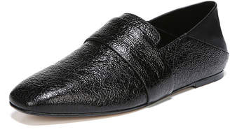 Vince Harris Crackled Flat Loafers