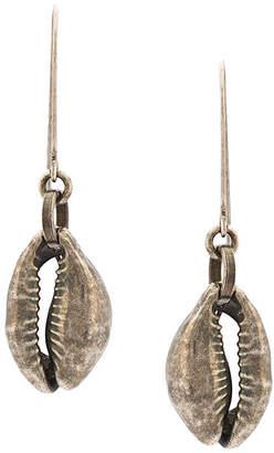Ann Demeulemeester shell drop earrings