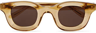 Rhude + Thierry Lasry Rhodeo Square-frame Acetate Sunglasses - Clear