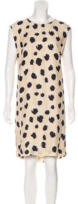 Acne Studios Printed Shift Dress Tan Printed Shift Dress