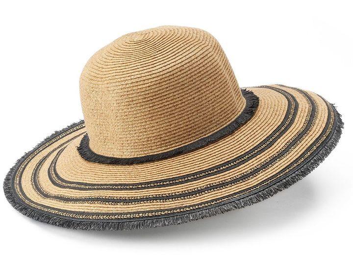 SONOMA Goods for LifeTM Straw Frayed Floppy Hat