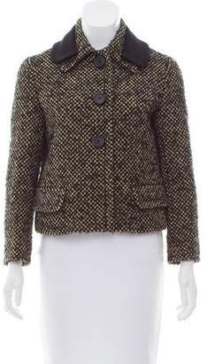 Prada Long Sleeve Wool-Blend Jacket