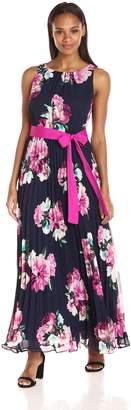 Jessica Howard JessicaHoward Women's Pleated Maxi Dress, Navy/Multi