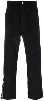 Palm Angels straight-leg trousers