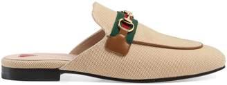 Gucci Women's Princetown canvas slipper