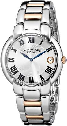 """Raymond Weil Women's 5235-S5-01659 """"Jasmine"""" Stainless Steel Watch with Two-Tone Link Bracelet"""