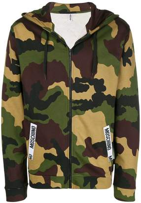 Moschino pocket logo hoodie
