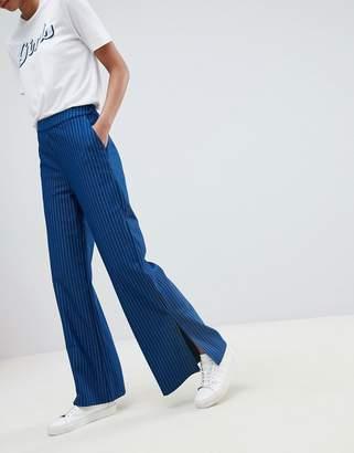 Vila pinstripe wide leg pant
